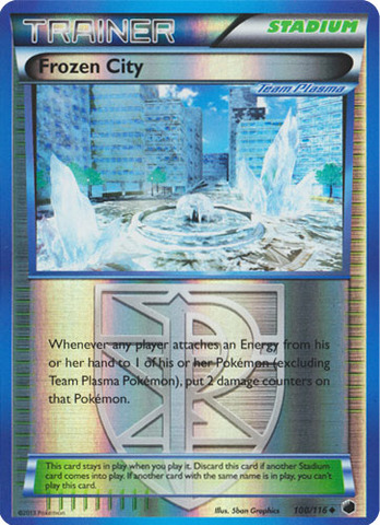 Frozen City - 100/116 - Uncommon - Reverse Holo