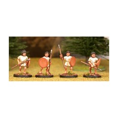 Warriors 1. Advancing, with javelin and round shield (150406-0066)