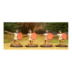 Warriors 2. Attacking, with javelin and round shield (150407-0067)