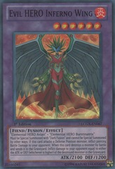 Evil HERO Inferno Wing - LCGX-EN067 - Super Rare - Unlimited Edition