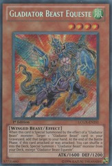 Gladiator Beast Equeste - LCGX-EN251 - Secret Rare - Unlimited Edition