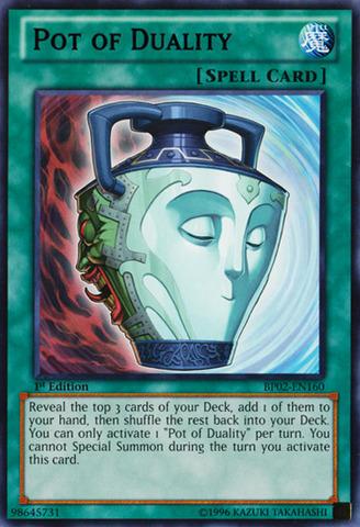 Pot of Duality - BP02-EN160 - Rare - 1st
