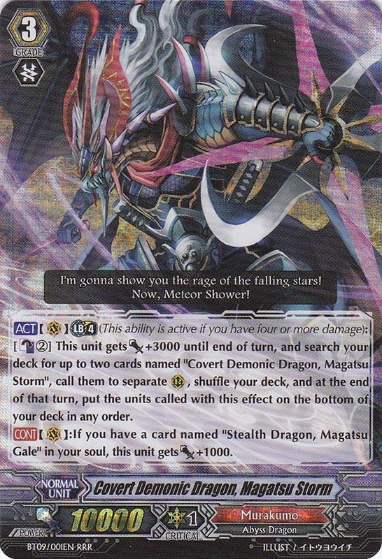 Covert Demonic Dragon, Magatsu Storm - BT09/001EN - RRR