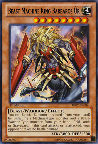 Beast Machine King Barbaros Ür - BP02-EN084 - Rare - 1st