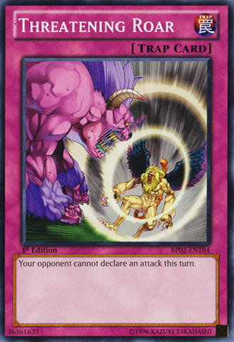 Threatening Roar - BP02-EN184 - Common - 1st Edition