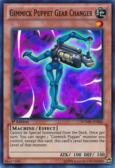 Gimmick Puppet Gear Changer - NUMH-EN006 - Super Rare - 1st Edition on Channel Fireball