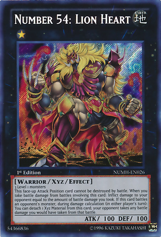 Number 54: Lion Heart - NUMH-EN026 - Secret Rare - 1st Edition