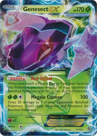 Genesect-EX - 11/101 - Rare Holo EX