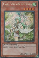 Caam, Serenity of Gusto - HA05-EN041 - Secret Rare - Unlimited Edition
