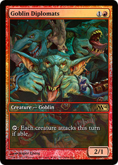 Goblin Diplomats - Full Art Foil - M14 Game Day