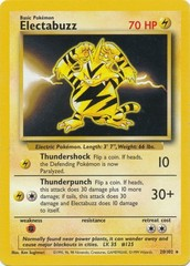 Electabuzz - 20/102 - Rare - Unlimited Edition