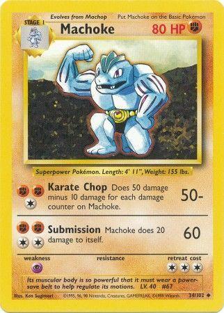 Machoke - 34/102 - Uncommon - Unlimited Edition