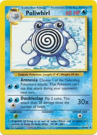 Poliwhirl - 38/102 - Uncommon - Unlimited Edition