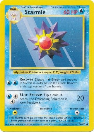 Starmie - 64/102 - Common - Unlimited Edition