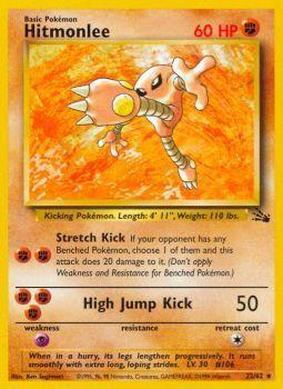 Hitmonlee - 22/62 - Rare - Unlimited Edition