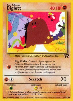Diglett - 52/82 - Common - Unlimited Edition