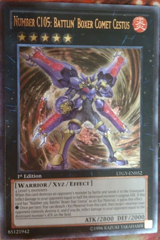 Number C105: Battlin Boxer Comet Cestus - LTGY-EN052 - Ultimate Rare - Unlimited Edition
