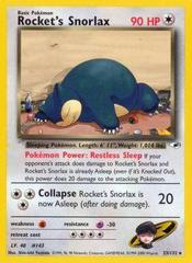 Rocket's Snorlax - 33/132 - Rare - Unlimited Edition