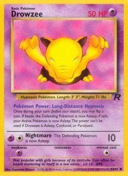Drowzee - 54/82 - Common - Unlimited Edition