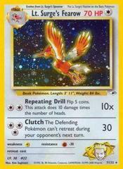 Surge/'s Treaty 112//132 1ST EDITION Gym Heroes Set Pokemon Card NEAR MINT Lt