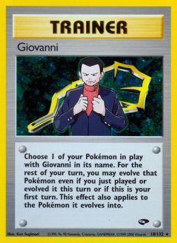 Giovanni - 18/132 - Holo Rare - Unlimited Edition