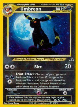 Umbreon - 13/75 - Holo Rare - Unlimited Edition