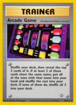 Arcade Game - 83/111 - Rare - Unlimited Edition