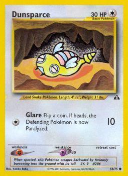 Dunsparce - 54/75 - Common - Unlimited Edition