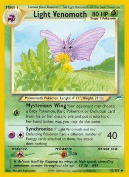 Light Venomoth - 53/105 - Uncommon - Unlimited Edition