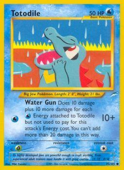 Totodile - 85/105 - Common - Unlimited Edition