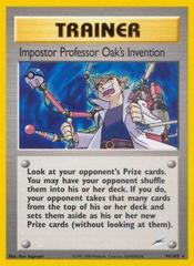 Impostor Professor Oak's Invention - 94/105 - Rare - Unlimited Edition on Channel Fireball