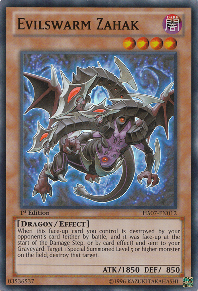 Evilswarm Zahak - HA07-EN012 - Super Rare - Unlimited Edition