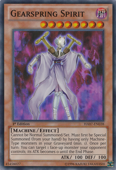 Gearspring Spirit - HA07-EN038 - Super Rare - Unlimited Edition