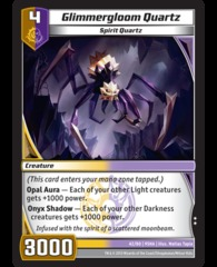 Glimmergloom Quartz on Channel Fireball