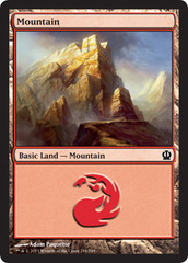 Mountain (244) - Foil on Channel Fireball