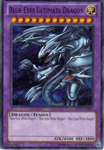 Blue-Eyes Ultimate Dragon - BATT-EN001 - Starfoil Rare - Unlimited Edition