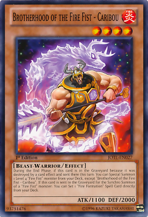 Brotherhood of the Fire Fist - Caribou - JOTL-EN027 - Common - Unlimited Edition