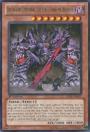 Archfiend Emperor, the First Lord of Horror - JOTL-EN031 - Rare - Unlimited Edition