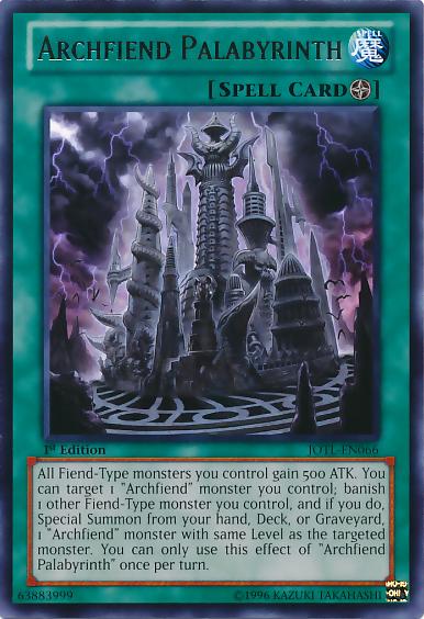 Archfiend Palabyrinth - JOTL-EN066 - Rare - Unlimited Edition