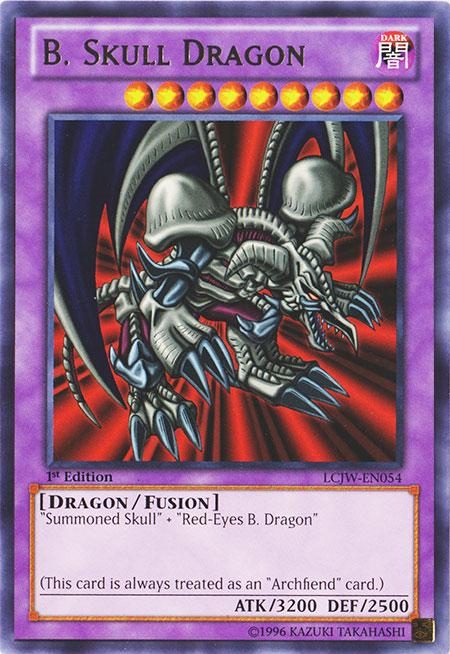 B. Skull Dragon - LCJW-EN054 - Rare - 1st Edition
