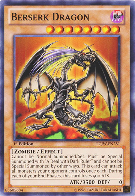 Berserk Dragon - LCJW-EN281 - Common - 1st Edition