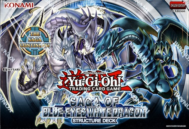 Yu-Gi-Oh Structure Deck: Saga of Blue Eyes White Dragon Display Box 8ct - 1st Edition