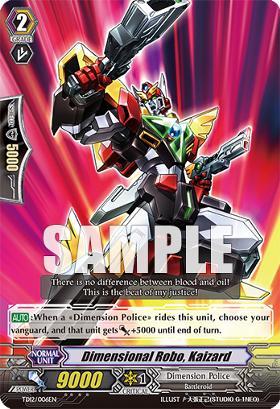 Dimensional Robo, Kaizard TD12/006EN - TD - R