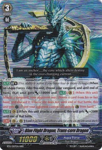 Blue Flight Dragon, Trans-core Dragon - BT11/007EN - RRR