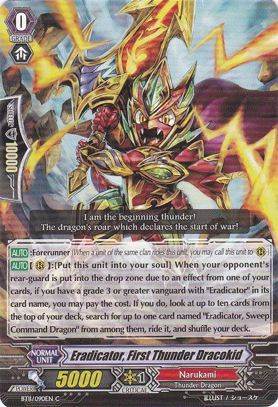 Eradicator, First Thunder Dracokid - BT11/090EN - C