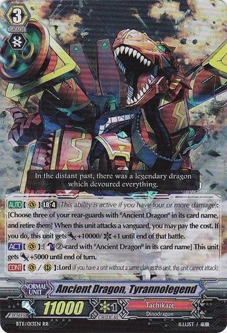 Ancient Dragon, Tyrannolegend - BT11/013EN - RR