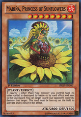 Mariña, Princess of Sunflowers - SHSP-EN040 - Super Rare - 1st Edition