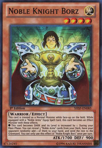 Noble Knight Borz - SHSP-EN085 - Super Rare - 1st Edition