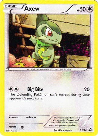 Axew - BW26 - Promotional