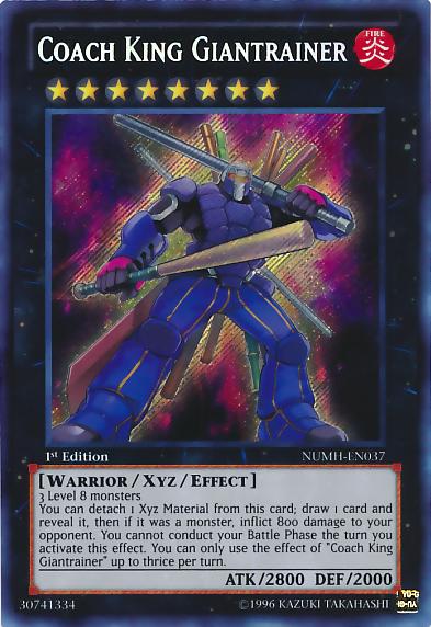 Coach King Giantrainer - NUMH-EN037 - Secret Rare - Unlimited
